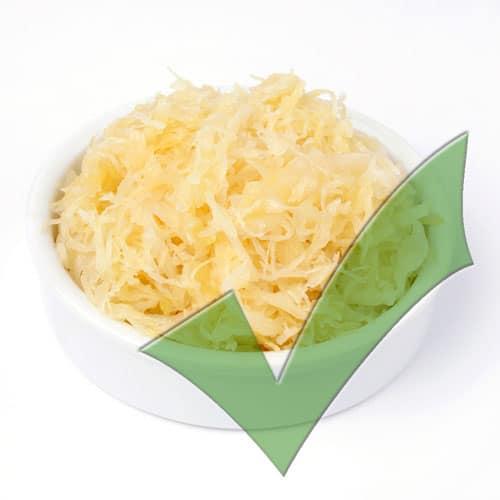 füttere Sauerkraut!