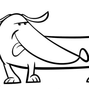Ausmalbild-Hund-frech