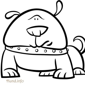 Ausmalbild-Hund-skeptisch