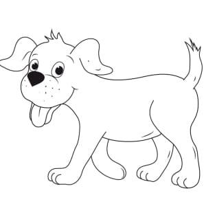 Ausmalbild-Hund-stehend