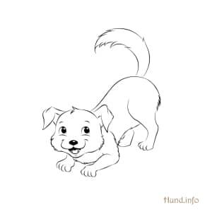 Ausmalbild-spielender-Hund
