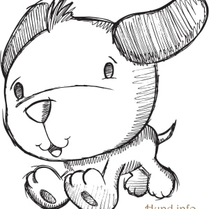 Ausmalbild-suesser-Hund